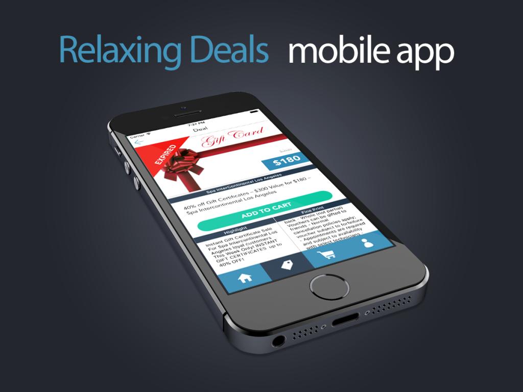 Relaxing Deals mobile app