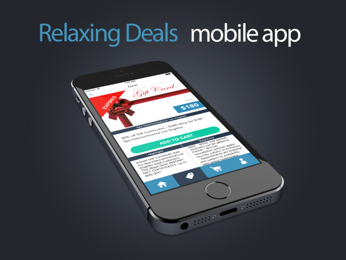 Relaxing Deals mobile app